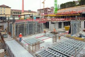 In der Spitze sind ca. 2.000 m² Noetop auf Stuttgarts größter Baustelle im Einsatz<br />