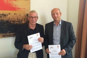 (v.l.n.r.): Die beiden Hauptgeschäftsführer Jürgen Reifig (DAV) und Michael Gilka (BVMB)