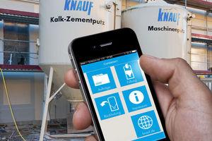 Mit der Knauf App Container+ behalten Fachunternehmer den Überblick über ihre Putz- und Estrich-Baustellen.