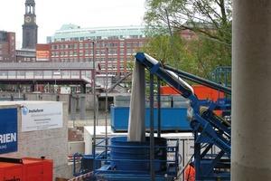 Oberhafen Düker Hamburg: Inversion eines Liners DN 2000<br />