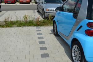 Der Parkplatz der neuen Rems-Murr-Klinik bietet Besuchern und Mitarbeitern Raum für 630 PKW.