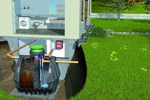 Das Graf Abwassersortiment – hier Kleinkläranlage Klaro Easy – basiert auf dem einzigartigen Carat Klärbehälter