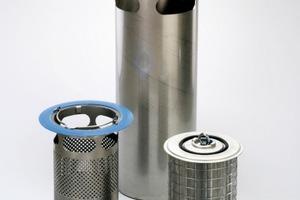 """Innolet-Set für rechteckige Gullies 300/500. Das System besteht aus einem Grobfilter, einem Einsatz und einer mit einem speziellen Substrat gefüllten Filterpatrone.<br /><span class=""""bildunterschrift_hervorgehoben"""">Foto: Funke Kunststoffe GmbH</span>"""