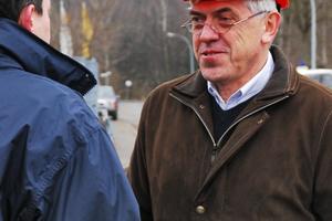 Martin Hopfe, geschäftsführender Gesellschafter der Thüringer Sprenggesellschaft GmbH aus Kaulsdorf. Sein Team sorgte für die reibungslose Sprengung.