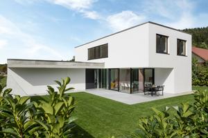 Individuell und energiesparend: Das Einfamilienhaus in Buch am Erlbach vereint moderne Architektur mit vorbildlichen Energiestandards.