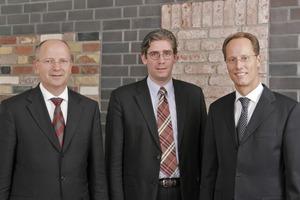Das neue Geschäftsführungsteam von Wienerberger: Norbert Meyer-Oltmanns, Dominic Späth, Ralf Schwung (v. l.)<br />