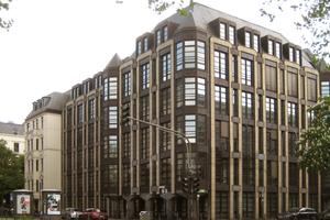 Das in den 80er Jahren erbaute Gebäude wurde vor dem Umbau als Bürokomplex der Allianz genutzt. <br />
