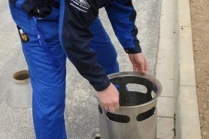 Als erstes wird der Innolet-Einsatz in den Straßenablauf eingesetzt…