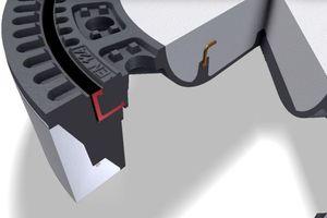 Direkt um die Schachtabdeckung gegossen: Aufgegossene, fest verbundene Einlage