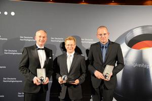 Dr. Matthias Jacob (ganz links), Technischer Geschäftsführer Bau bei Wolff & Müller, nahm die Auszeichnung am 28. November in Düsseldorf entgegen.