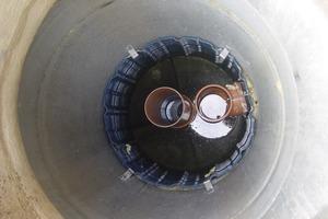 Der Einbau des 3P Hydrosystems erfolgte in passgenau gefertigte Betonschächte, die an ein vorhandenes Sickersystem angebunden wurden<br />