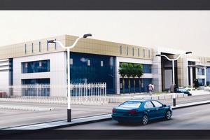 Visualisierung der Erweiterung des Alfarabi Dental Colleges in Riad.