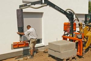Betonplatten, Bordsteine, Fließrinnen und vieles mehr lassen sich so schnell und ohne Kraftaufwand verlegen