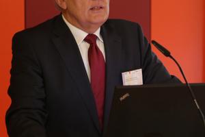 Dr. Hans Georg Leuck, Vorsitzender der Deutschen Gesellschaft für Mauerwerks- und Wohnungsbau e.V. (DGfM)<br />