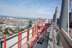 Nach Fertigstellung wird der Roche-Tower mit 178 m Höhe die Zürich Prime Towers (126 m) deutlich überragen und sie somit als höchstes Gebäude der Schweiz ablösen.