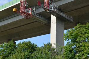 Das spezielle Untersichtgerät eignet sich besonders für Langzeit-Brückensanierungen