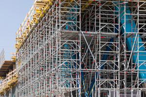 Mithilfe der Software Layplan CAD können die einzelnen Gerüste an die Bauwerksgeometrie angepasst werden.