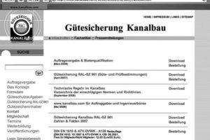 """Online abrufbar: Unter www.kanalbau.com in der Rubrik """"Veröffentlichungen"""" sind die verfügbaren Printmedien aufgelistet<span class=""""bildunterschrift_hervorgehoben"""">Abbildung: Güteschutz Kanalbau</span>"""
