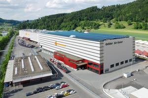 Das Fahrzeug-Logistikcenter FLC2 nach Ausführung der Aufstockung.