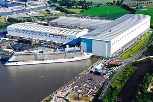 """Die Meyer Werft in Papenburg – bekannt für den Bau spektakulärer Schiffsriesen<br /><span class=""""bildunterschrift_hervorgehoben"""">Foto: Meyer Werft</span>"""
