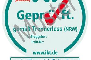 Das Siegel dokumentiert die Eignung für den Einsatz der Anlagen gemäß NRWTrennerlass<br />