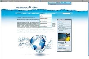 """Wasserwelt.com – Diese neue Internetseite beinhaltet einen branchenübergreifenden News-Bereich, ein Forum für Fach- und Privatleute, ein Lexikon sowie viele Infos zu Ausbildung und Studium<br /><span class=""""bildunterschrift_hervorgehoben"""">Abbildung: www.wasserwelt.com</span><br />"""