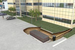Das Graf EcoBloc Inspect Rigolensystem ist zur Regenrückhaltung und der kontrollierten Regenwasserversickerung geeignet