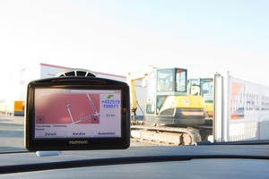 HKL bietet alle Center als kostenlose POIs für TomTom Navigationsgeräte an; Foto: HKL Baumaschinen