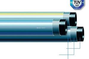 """Das egeplast HexelOne Raised Pressure-System ist vom TÜV für den Einsatz für erhöhte Betriebsdrücke zertifiziert. Das werkstoffhomogene PE-Hochdruckrohr verfügt über 3 Funktionsschichten<span class=""""bildunterschrift_hervorgehoben"""">Foto: egeplast</span><br />"""