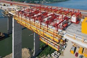 Für den vierspurigen Autobahnausbau erhält die 2,2 km lange Donauquerung bei Beška eine Zwillingsbrücke<br />
