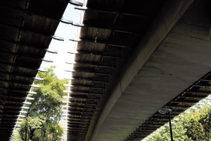 Untersicht des RSW und der nördlichen Ausfahrt inklusive Traggerüstkonstruktion