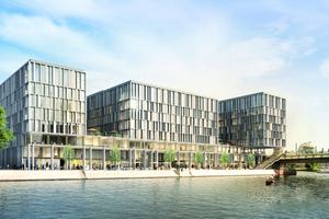 Bei der Planung des Objektes mussten die Architekten zahlreiche Aspekte berücksichtigen:reibungslosen Bürobetrieb, Zugang zum Wasser, städtebauliche Strukturen und Nachhaltigkeit.
