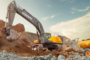 Der Volvo EC750E ist ein Raupenbagger der 75-Tonnen-Klasse. (Bild: Volvo Construction Equipment)