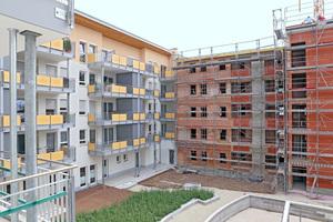 Der Wohnpark besteht aus insgesamt fünf Abschnitten. 2015 sollen die letzten beiden Gebäude fertig gestellt werden