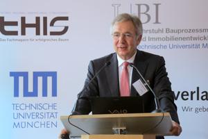 Univ.-Prof. Dr.-Ing. Josef Zimmermann, Ordinarius des Lehrstuhls für Bauprozessmanagement und Immobilienentwicklung (LBI) der Technischen Universität München