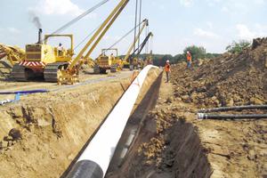 Bau der Gashochdruckleitung (DN 800) zwischen der Obertageanlage in Peckensen und dem Netzkopplungspunkt Steinitz der ONTRAS-VNG Gastransport GmbH