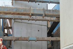 Schachtbauwerk für die Zusammenführung der tiefliegenden Leitungen