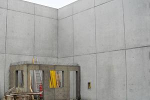 Alle Wände wurden in Sichtbetonklasse SB2 ausgeführt