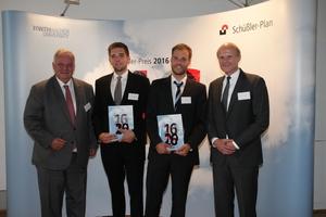 Der Schüßler-Preis 2016 wurde im Rahmen eines Festaktes, gemeinsam von Diplom-Ingenieur Norbert Schüßler, geschäftsführender Gesellschafter Schüßler-Plan sowie Josef Hegger, Universitätsprofessor und Prodekan der Fakultät für Bauingenieurwesen der RWTH Aachen, überreicht.
