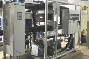 """Die 50-kW-Wärmepumpe erhält ihren Strom von der KWK-Anlage<span class=""""bildunterschrift_hervorgehoben"""">Fotos: Waterkotte</span><br />"""
