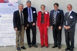 Fachbeirat der Nürnberger Kolloquien zur Kanalsanierung: (v.l.n.r.) Burghard Hagspiel, Dieter Walter, Dr. Ursula Baumeister, Stefan Dümler, Prof. Werner Krick