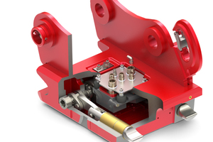 Der SW1615 SQH ist vollhydraulisch und vollysmmetrisch selbst bei hydraulischen Anbaugeräten wie einem Schwenklöffel.