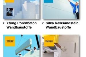 Verschiedene Sreenshots von der mobilen Ytong-Silka-Website<br />