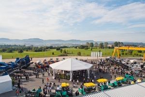 Die 55 Maschinen in der Ausstellung auf dem Firmengelände gaben einen guten Überblick über das aktuelle Produktspektrum der Wirtgen Group