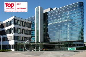 """Der Dortmunder Pumpenhersteller WILO SE wurde zum fünften Mal in Folge vom Researchunternehmen CRF Institute zum """"Top-Arbeitgeber für Ingenieure"""" ausgezeichnet"""