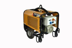 Das separate Hydraulikaggregat mit elektrischem Antrieb des Mikrobaggers Cat 300.9 VPS läßt sich auch für andere Hydraulikverbraucher einsetzen.