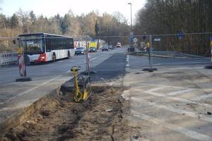 Eine Straßenbaumaßnahme an der Max-Reichpietsch-Straße<br />
