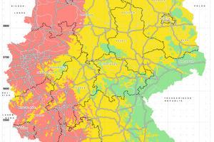 """Karte der<span class=""""bildunterschrift_hervorgehoben""""> Frosteinwirkungszonen</span> in Deutschland<br />"""