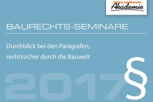Die Schlagmann Akademie veranstaltet im April ein vertiefende Baurechts-Seminar. Abbildung: Schlagmann Poroton