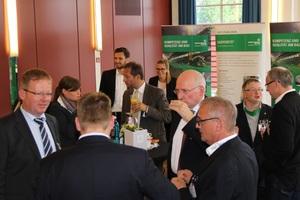 Auch im Ausstellungsbereich der Wettbewerbspartner BWI Bau, DAF Trucks, Heidelberger Beton, MEVA Schalungstechnik, Nemetschek Bausoftware und Topcon Positioning Deutschland drängten sich die zahlreichen Gäste.